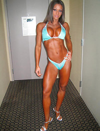 Sexy muscle girl.18+