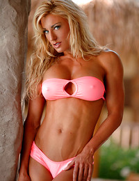 Hot muscle babe in..