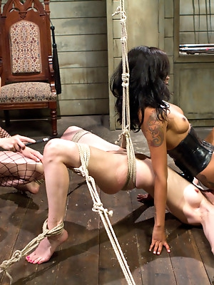 Calico returns for first lesbian double penetration!