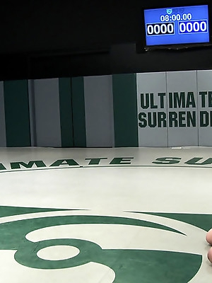 New rookie on the mat gets a face full of humilation & monster tits<br>Totally defeated & fucked!